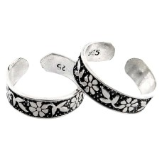 Delicate! 925 Sterling Silver Toe Rings