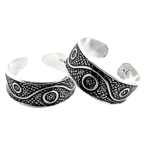 So In Love! 925 Sterling Silver Toe Rings