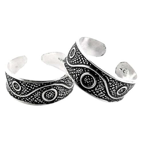 So In Love! 925 Sterling Silver Toe Rings