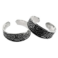 Beautiful Design! 925 Sterling Silver Toe Rings
