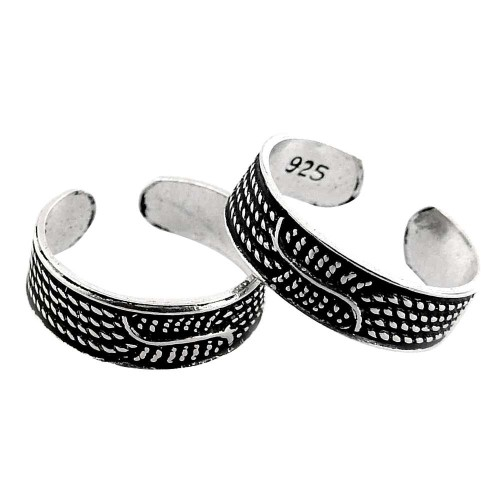 Amazing Design! 925 Sterling Silver Toe Rings