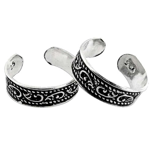 Spectacular Design! 925 Sterling Silver Toe Rings