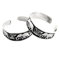 Spell! 925 Sterling Silver Toe Rings