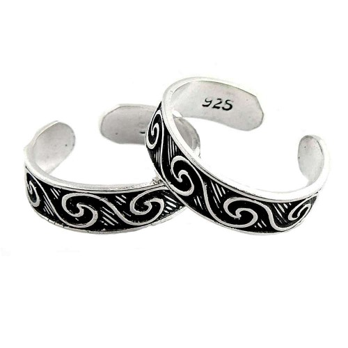 Briliance! 925 Sterling Silver Toe Rings