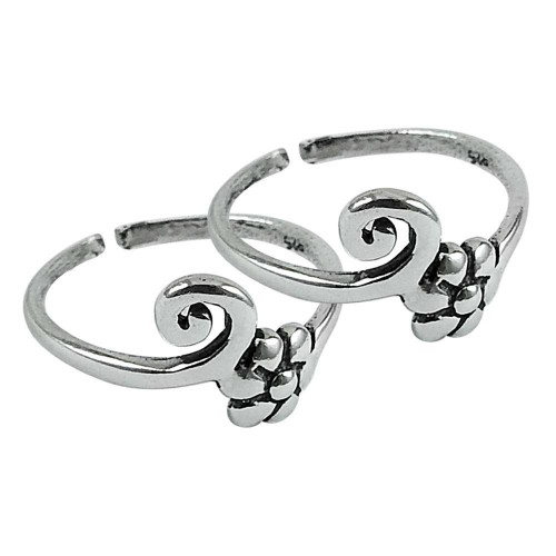 925 Sterling Silver Vintage Jewelry Ethnic Handmade Toe Rings Manufacturer