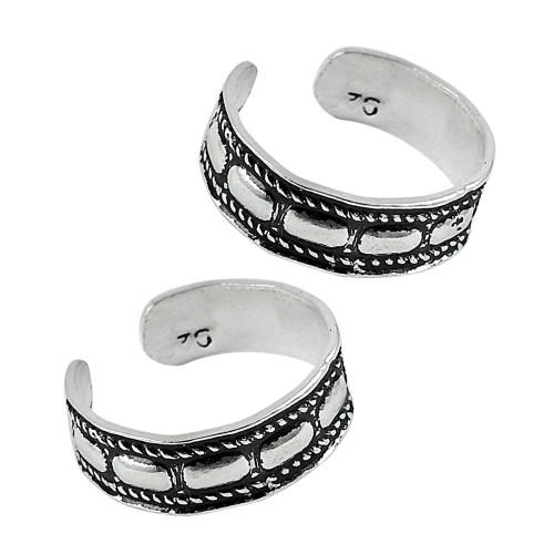 925 Sterling Silver Jewelry Ethnic Handmade Toe Rings Großhändler