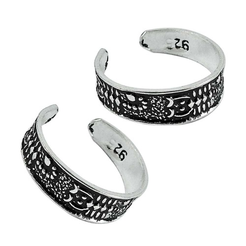 925 Sterling Silver Jewelry Beautiful Handmade Toe Rings Exporter India