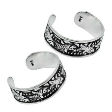 925 Sterling Silver Jewelry High Polish Handmade Toe Rings Manufacturer India