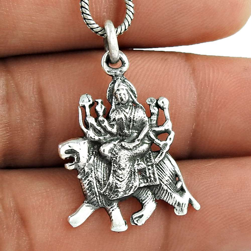 925 sterling silver goddess sherawali pendant wholesale price 925 sterling silver pendant aloadofball Gallery
